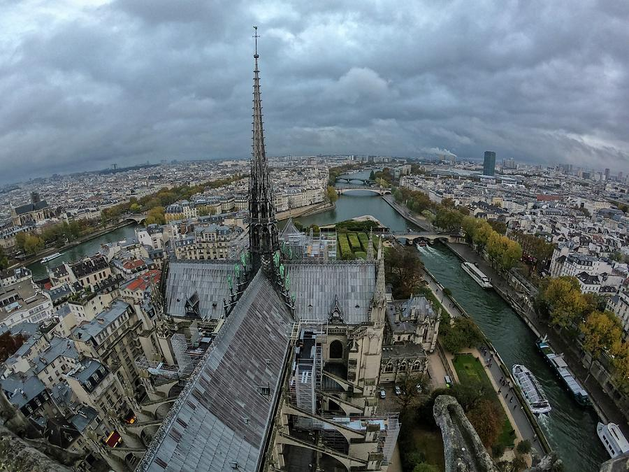 View From Notre Dame - Paris - France Photograph