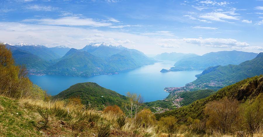Joan Carroll Photograph - View From Rifugio Menaggio Lake Como Italy by Joan Carroll