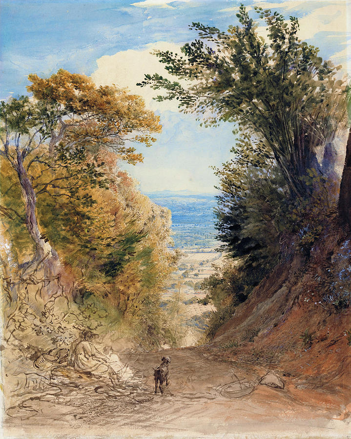 Samuel Palmer Painting - View From Rooks Hill, Kent - Digital Remastered Edition by Samuel Palmer