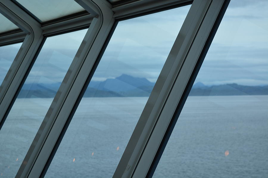 Alaska Photograph - View From The 11th Deck Of The Liner by Joe Smiga