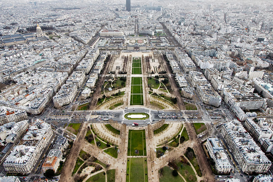 De Photograph - View From The Eiffel Tower, Down The by Steven Bostock