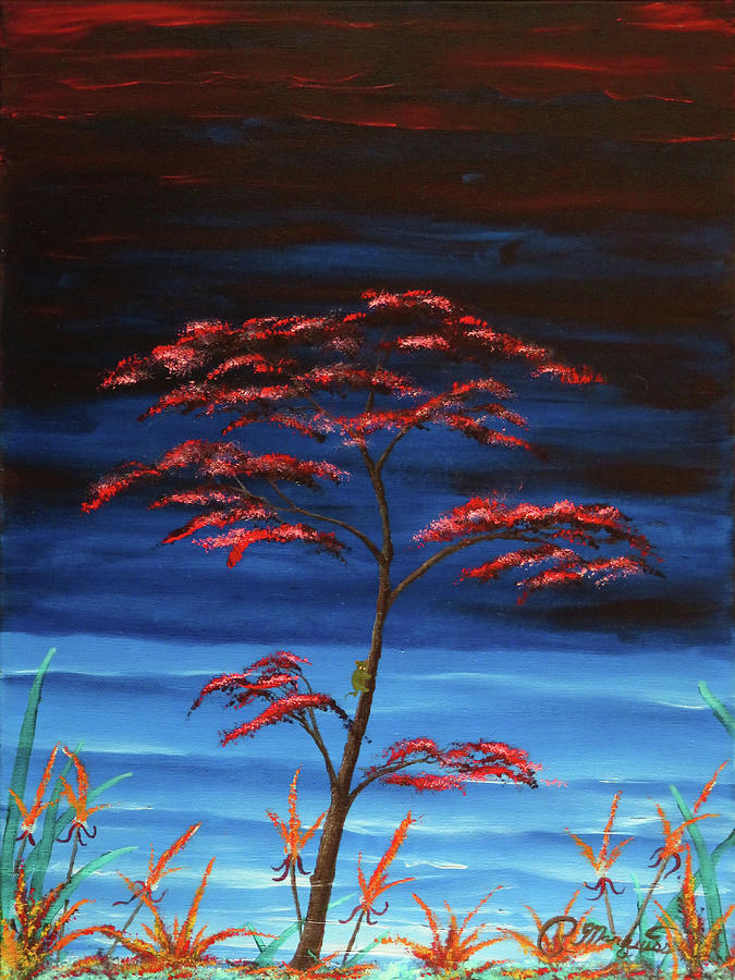 Blooming Tree Painting - View From The Pirates Isle by Robert Marquiss
