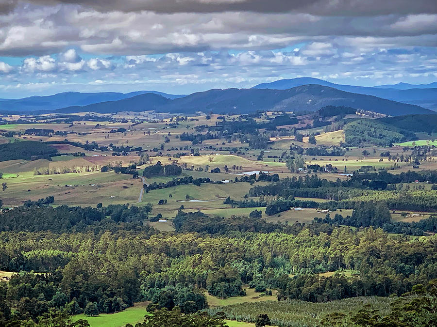 View from the Sideling Lookout - Northern Tasmania by Tony Crehan