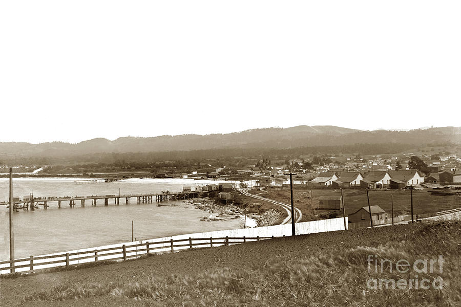 View looking Southeast to the Harbor from the Site of El Castill by California Views Archives Mr Pat Hathaway Archives