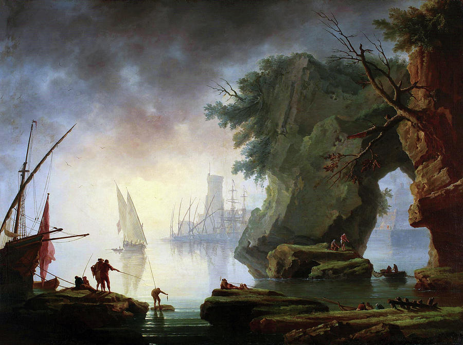 View of a Port in the Mist by Henry d'Arles