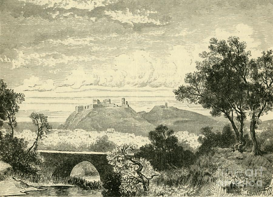 View Of Athens Drawing by Print Collector