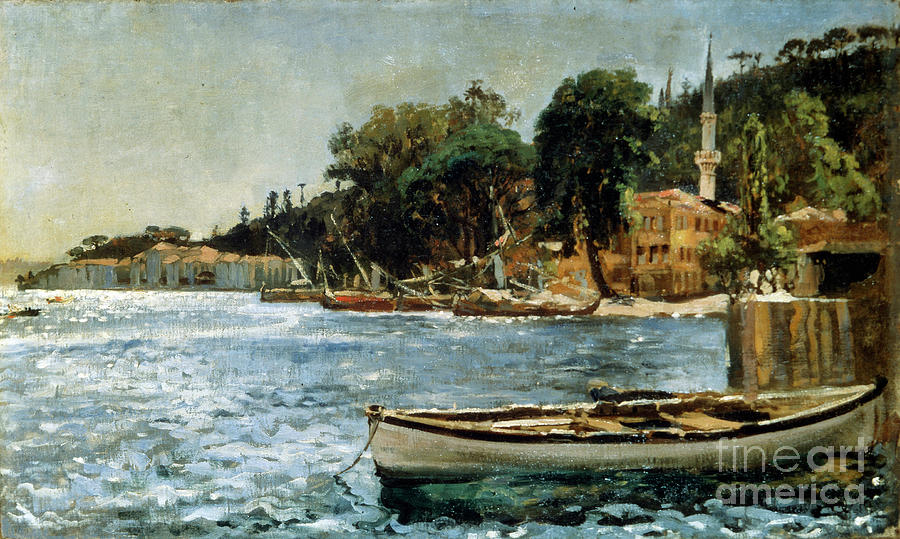 View Of Bebek Near Constantinople Drawing by Heritage Images