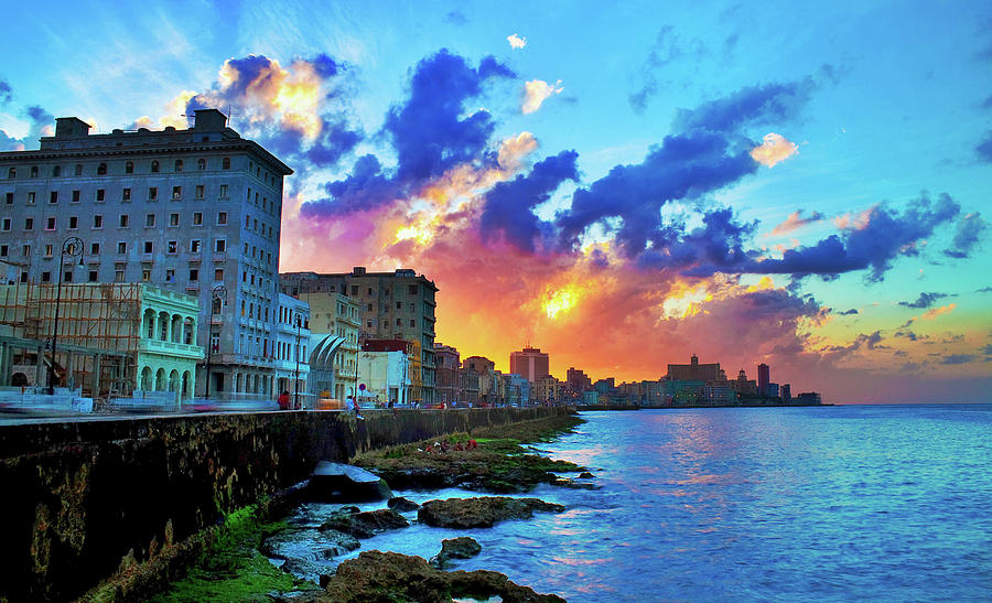 View Of Buildings And Sea During Sunset Photograph by Diogo Salles