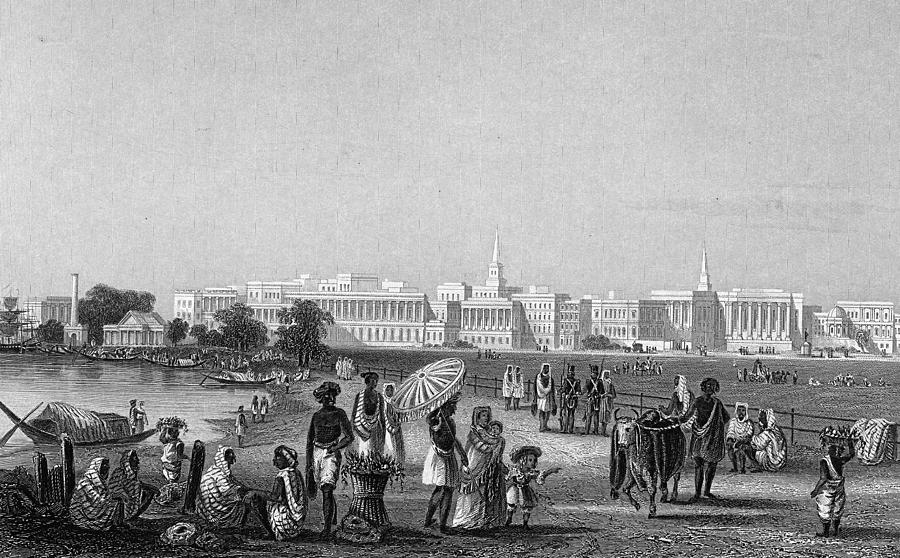 View Of Calcutta From The Esplanade Photograph by Hulton Archive