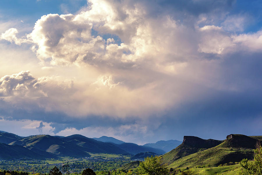 View of Clouds Over Golden, Colorado by Jeanette Fellows