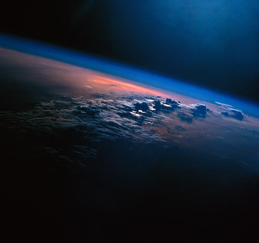 View Of Earth From Outer Space Photograph by Stockbyte