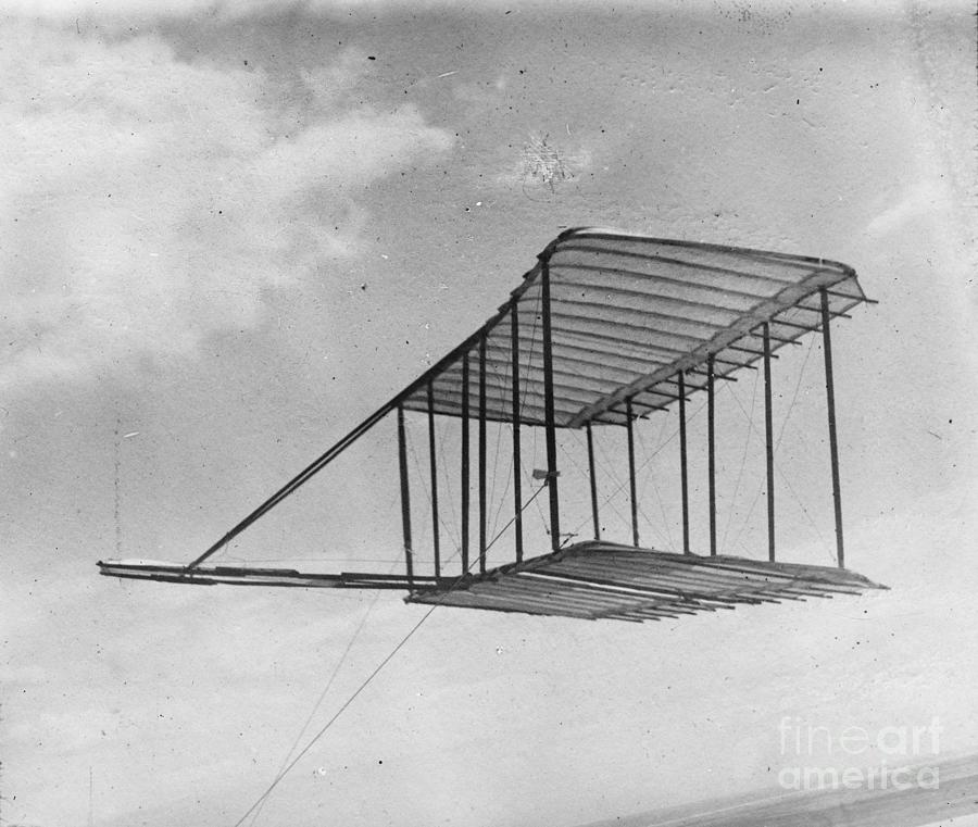 View Of Glider Flying As A Kite Drawing by Heritage Images