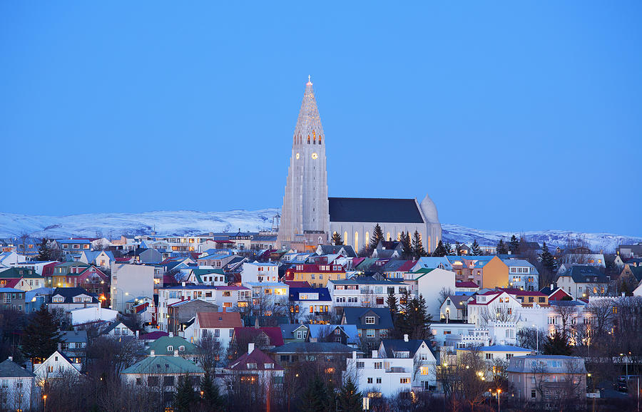 View Of Hallgrimskirkja Church Photograph by Travelpix Ltd