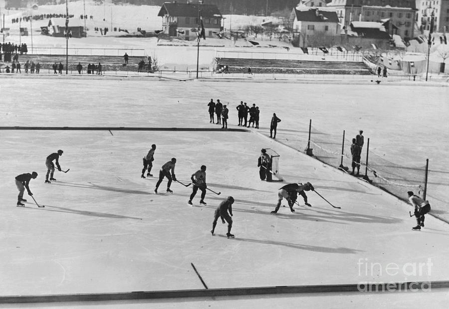 View Of Hockey Game From Grandstands Photograph by Bettmann
