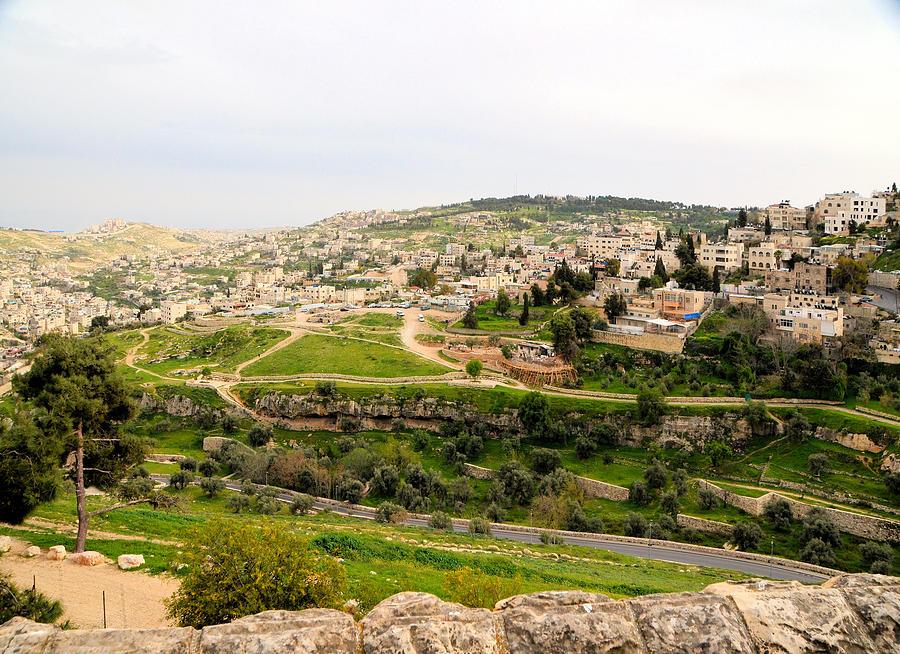 View of Kidron Valley and Silwan East Jerusalem by Alex Vishnevsky