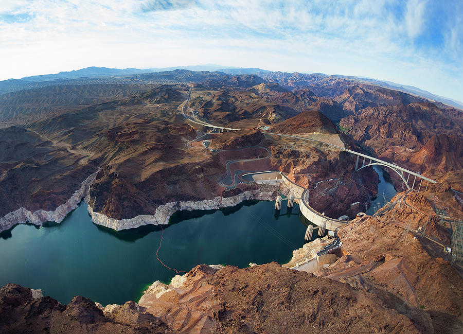Tranquility Photograph - View Of Lake Mead And Hoover Dam by Derek E. Rothchild