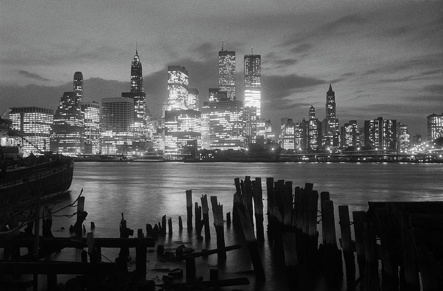 View Of Manhattan Skyline From Brooklyn Photograph by Bettmann