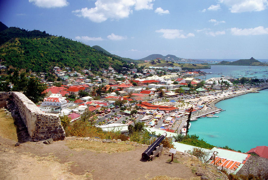 View Of Marigot Bay From St. Louis Photograph by Medioimages/photodisc