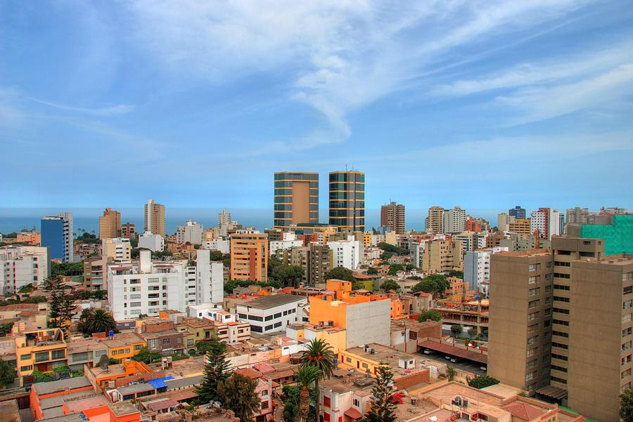 View Of Miraflores, Lima Photograph by Richard Fairless