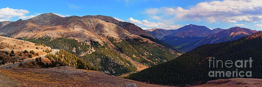 View of Mount Elbert and La Plata Peak - Independence Pass Sawatch Range of Rocky Mountains Colorado by Silvio Ligutti