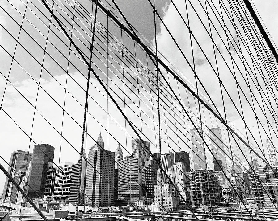 View Of New York From Brooklyn Bridge Photograph by Martin Child