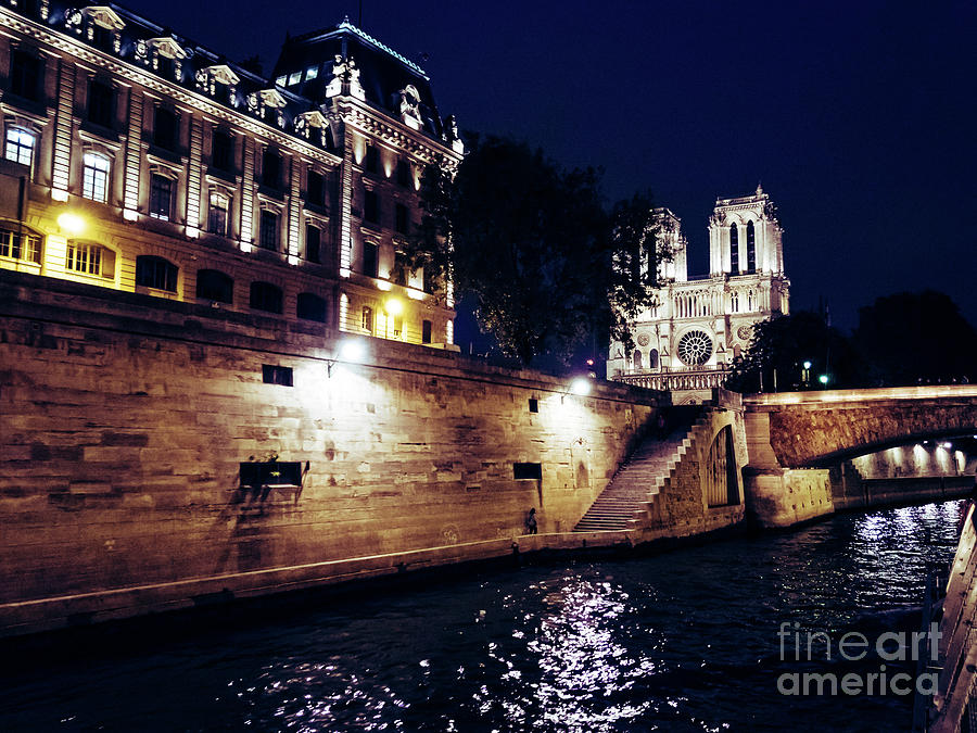 France Photograph - View Of Notre Dame From The Sienne River In Paris, France by PorqueNo Studios