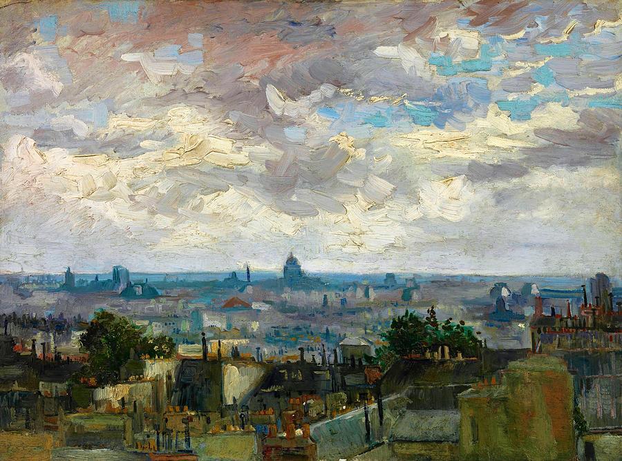 Vincent Van Gogh Painting - View Of Paris - Digital Remastered Edition by Vincent van Gogh