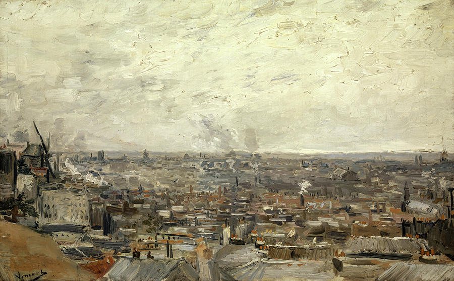 Vincent Van Gogh Painting - View Of Paris From Montmartre, 1886 by Vincent van Gogh