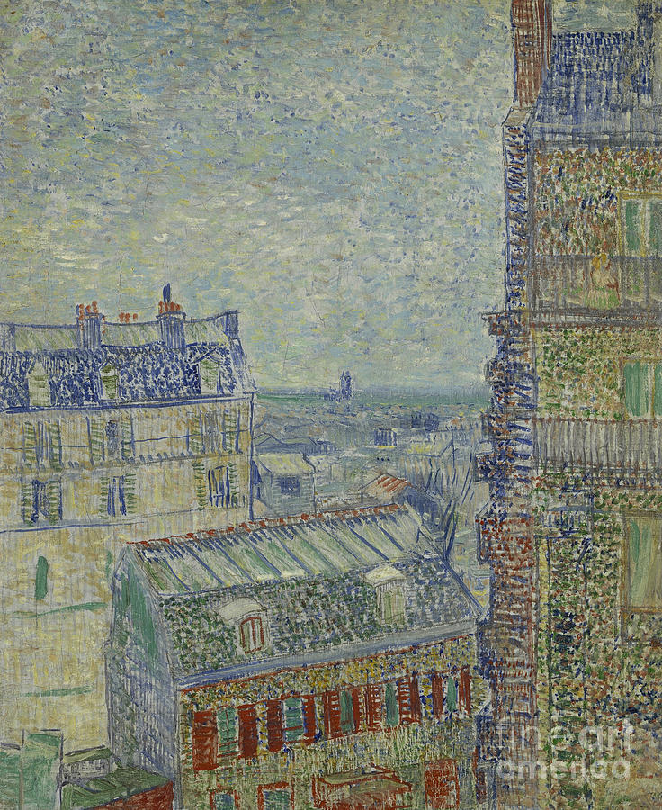 Vincent Painting - View Of Paris From Theos Apartment In The Rue Lepic, 1887  by Vincent Van Gogh