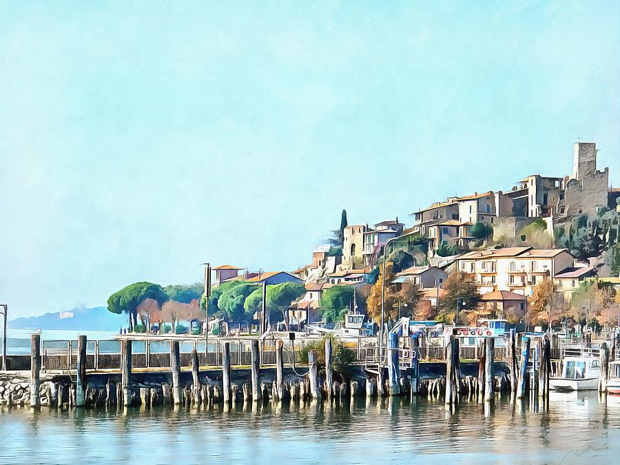 View of Passignano Sul Trasimeno  by Dorothy Berry-Lound