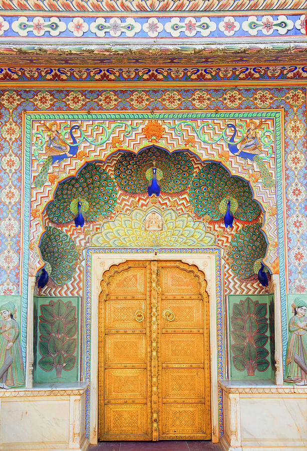 View Of Peacock Door In Palace Photograph by Grant Faint