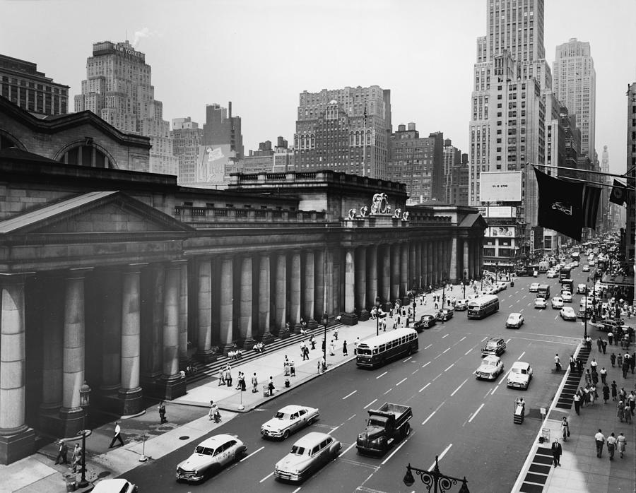View Of Penn Station From Seventh Avenue Photograph by Authenticated News