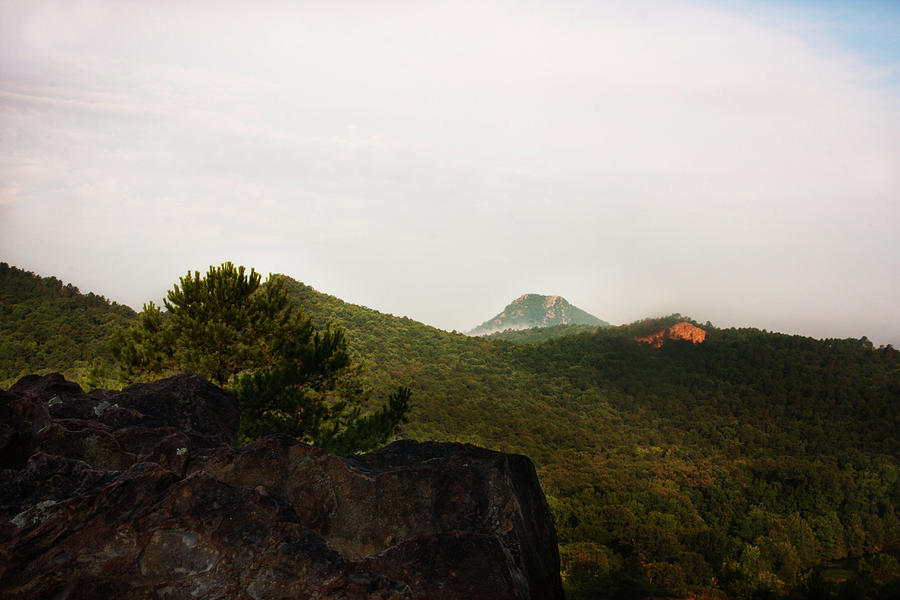 View of Pinnacle Mountain by Eugene Campbell