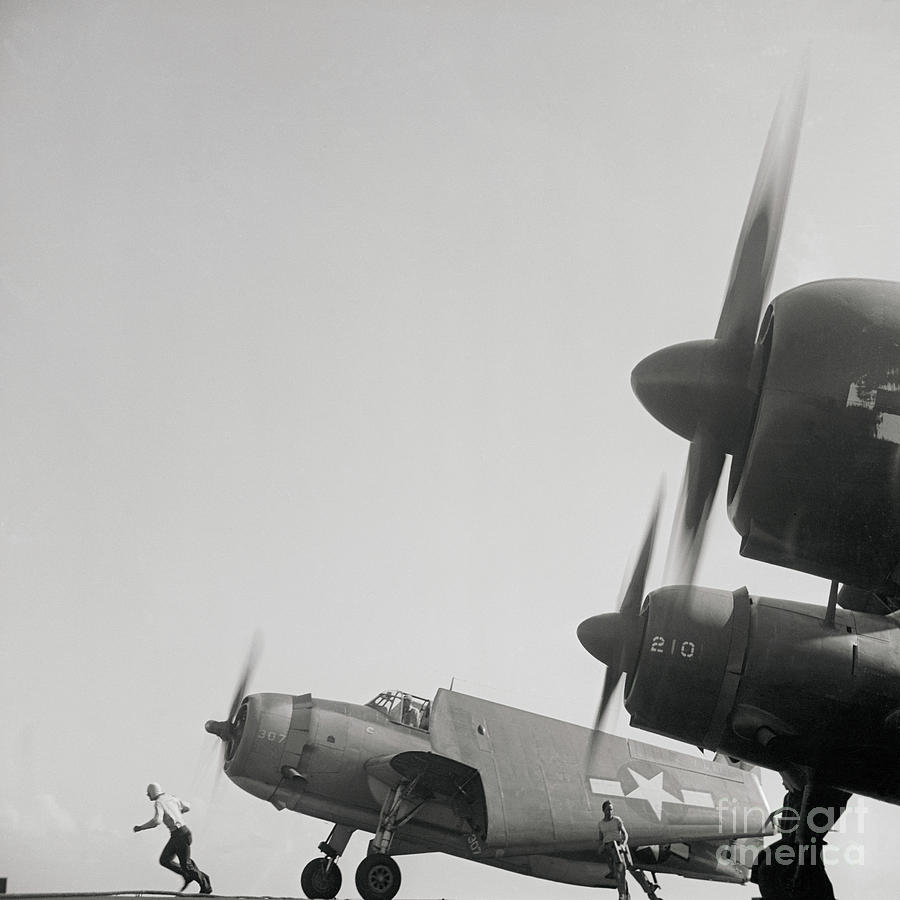 View Of Planes Taking Photograph by Bettmann