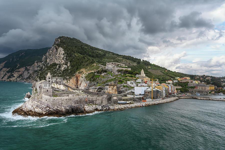View of Portovenere Italy from Palmaria Island by Joan Carroll