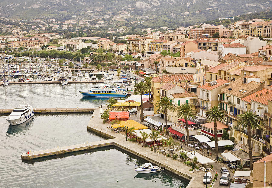 View Of Quay And Waterfront Of Calvi Photograph by David Madison