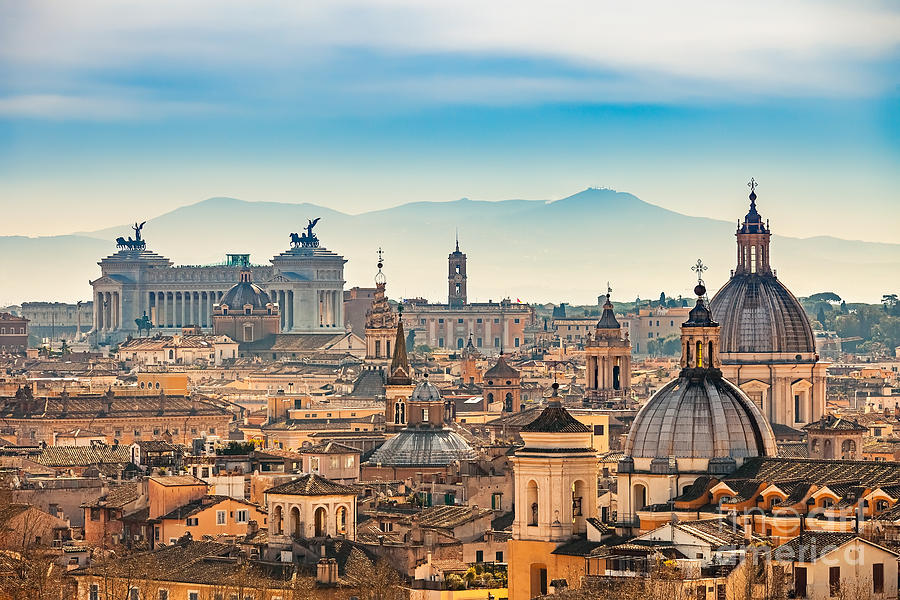 Capital Photograph - View Of Rome From Castel Santangelo by S.borisov