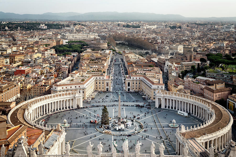 View of Rome from St. Peter's Basilica Dome by Jacqui Boonstra