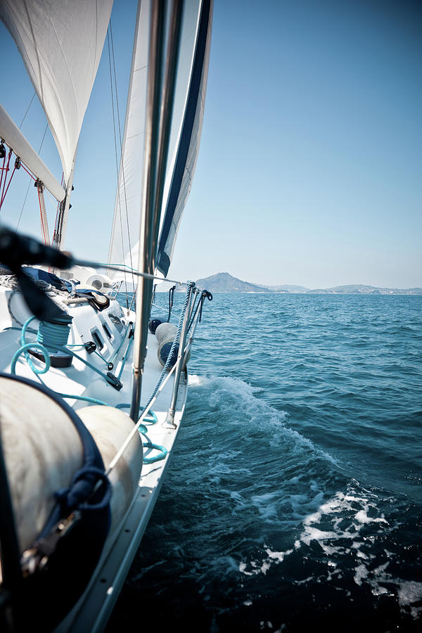 View Of Sailing Boat Photograph by Piccerella