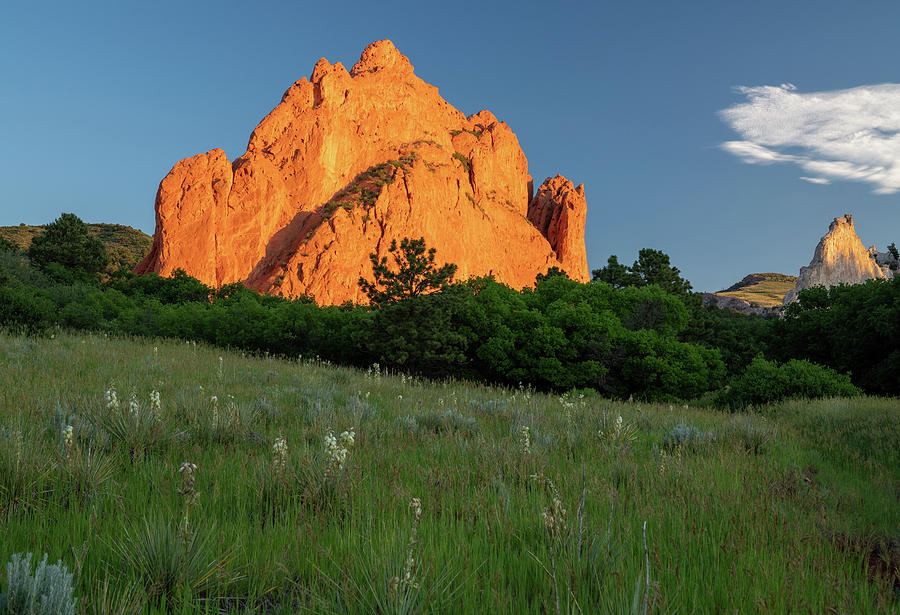 View of Sandstone rock formations in Garden of the Gods in Colorado Springs USA by Kyle Lee
