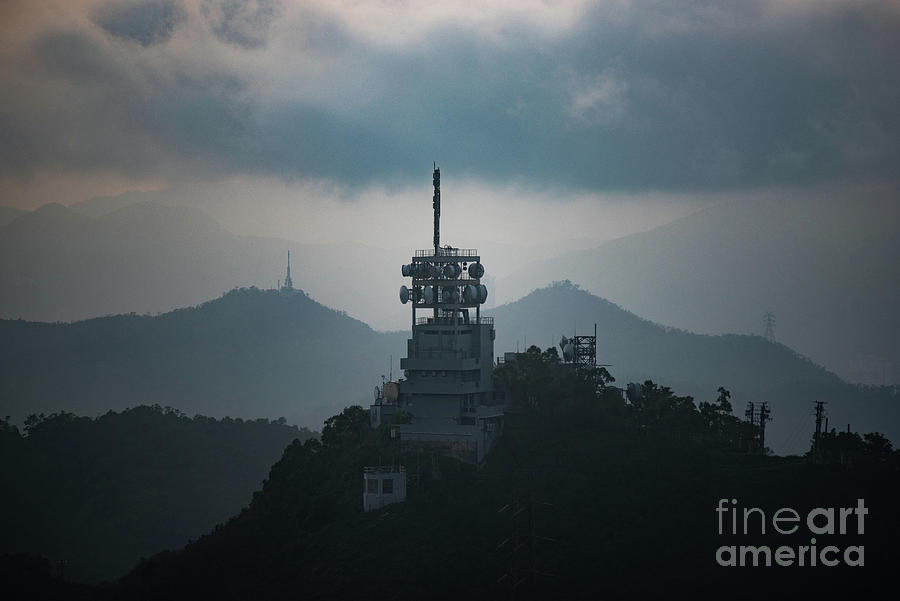 View Of Satellite Tower On Mountain Peak Photograph by เก่ง กลุ่มใบไม้ / 500px