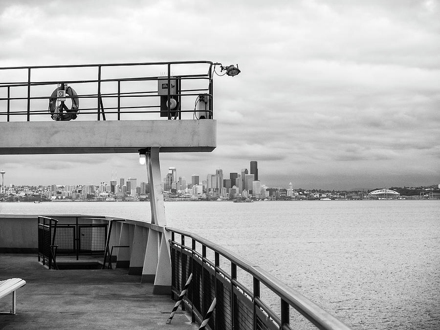 View of Seattle from the Bainbridge Ferry by Keith Dotson