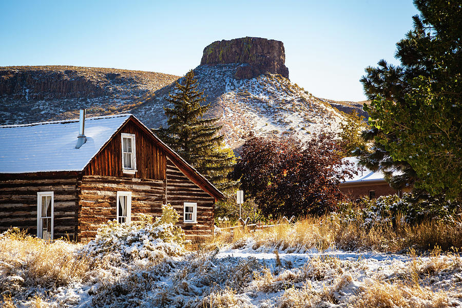 View of South Table Mountain After The First Snow Of The Season by Jeanette Fellows