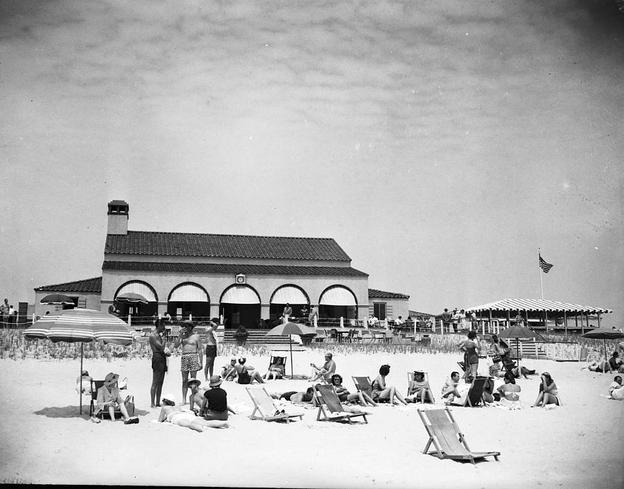 View Of Southampton Beach Club With Photograph by Bert Morgan