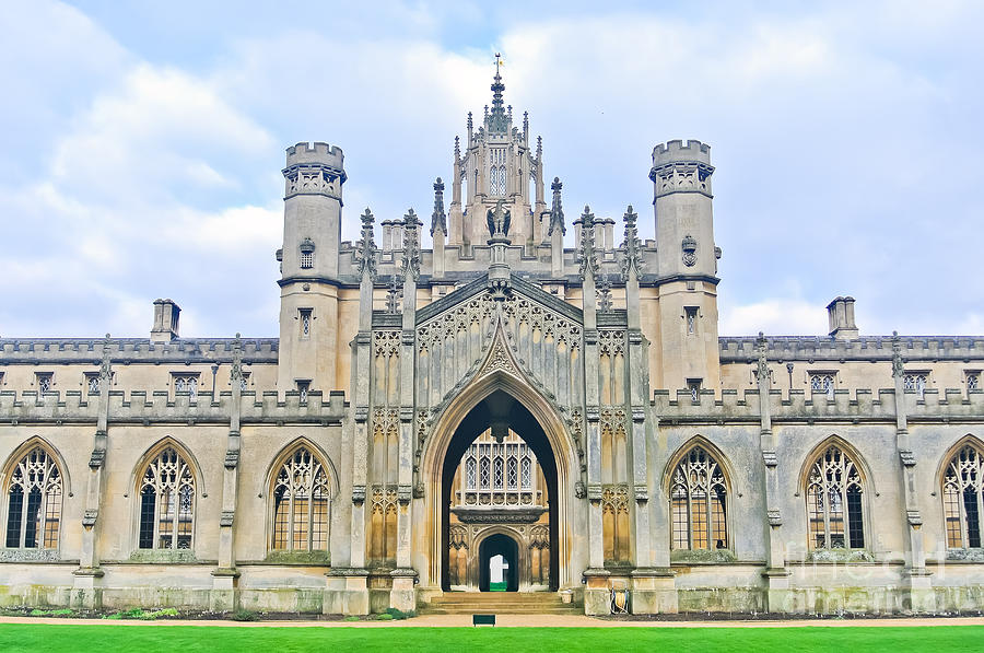 College Photograph - View Of St Johns College, University Of by Javen