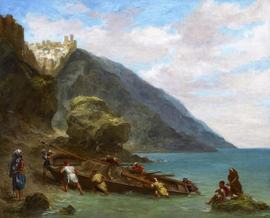 Eugene Delacroix Painting - View Of Tangier From The Seashore - Digital Remastered Edition by Eugene Delacroix