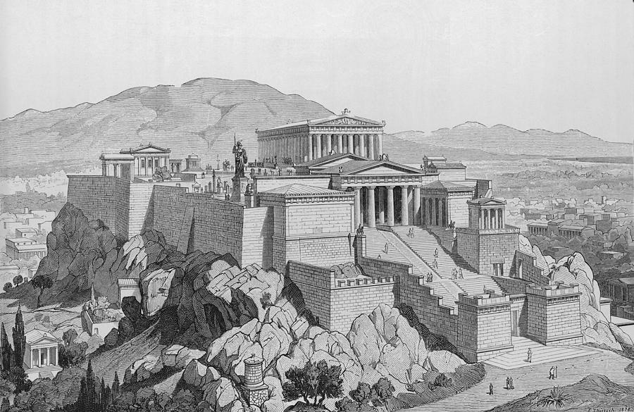View Of The Acropolis Photograph by Kean Collection
