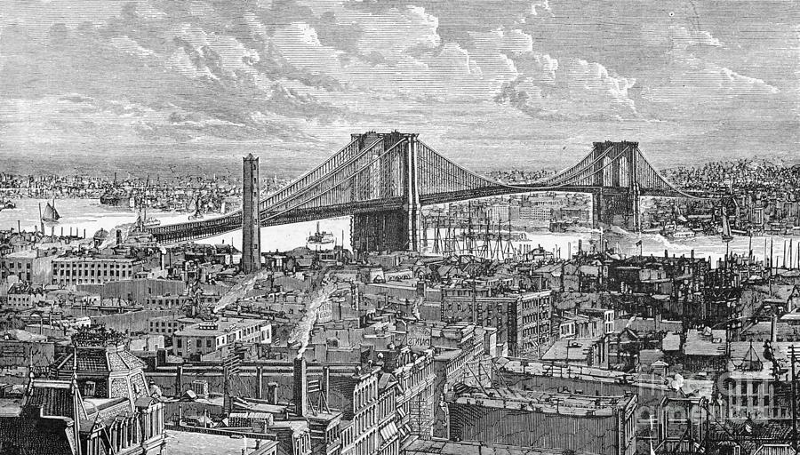 View Of The Brooklyn Bridge Photograph by Bettmann