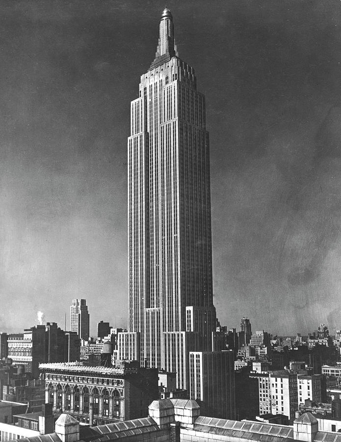 View Of The Empire State Building In Photograph by Mansell