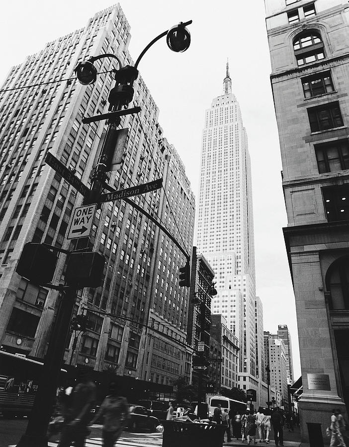 View Of The Empire State Building, New Photograph by Martin Child